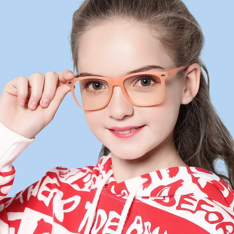 Cutie - (Age 7-12)Children Blue Light Blocking Computer Reading Gaming Glasses-Transparent Orange