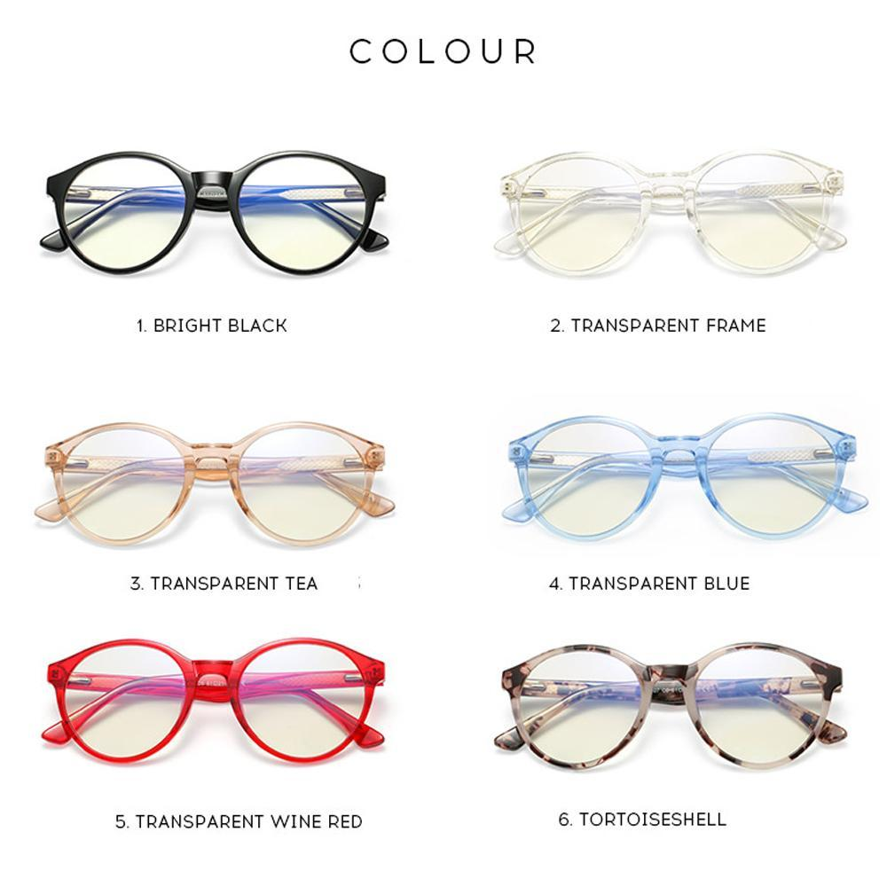 Foresee - Fashion Blue Light Blocking Computer Reading Gaming Glasses - Transparent Wine Red