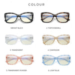 Hope - Fashion Blue Light Blocking Computer Reading Gaming Glasses - Bright Black