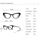 Kitten - Fashion Blue Light Blocking Computer Reading Gaming Glasses - Transparent Silver Champagne