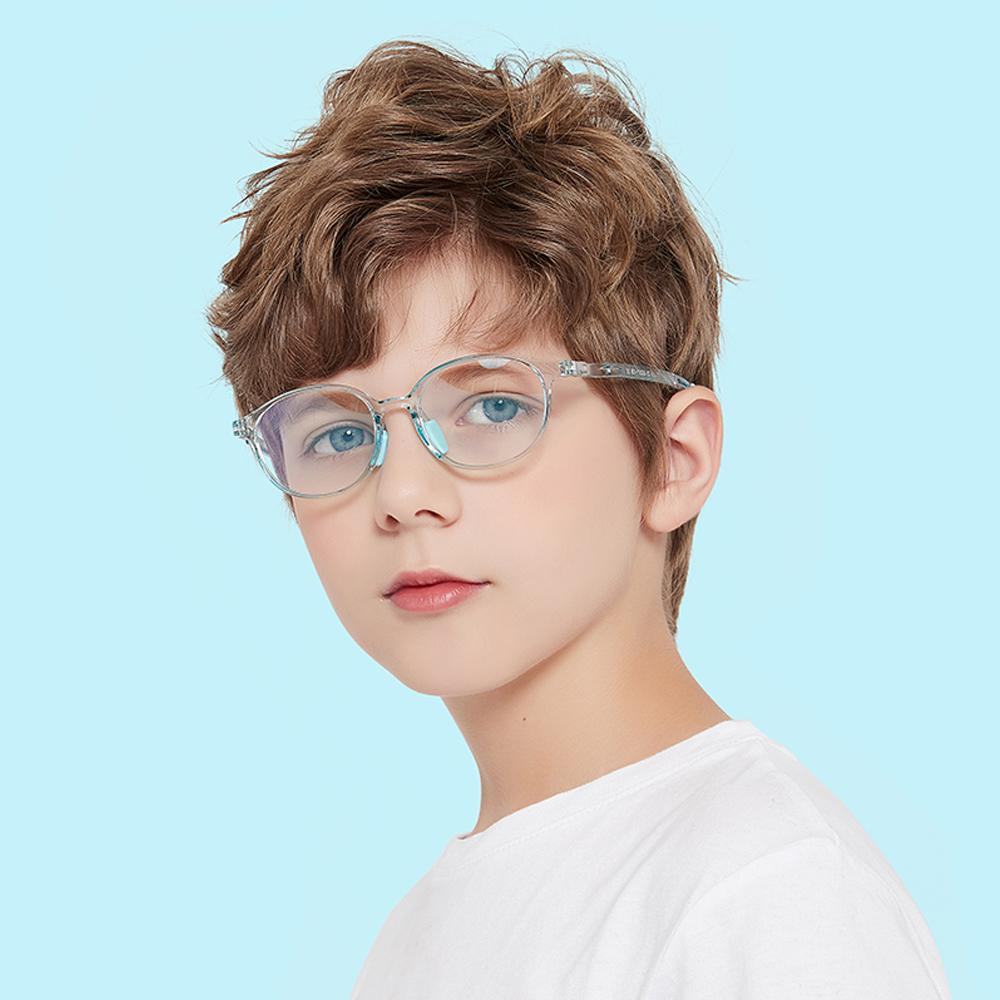 Lively - (Age 5-13)Children Non-slip Blue Light Blocking Glasses-Transparent Light Green