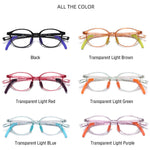 Lively - (Age 5-13)Children Non-slip Blue Light Blocking Glasses-Transparent Light Brown