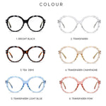 Mori - Fashion Blue Light Blocking Computer Reading Gaming Glasses - Transparent