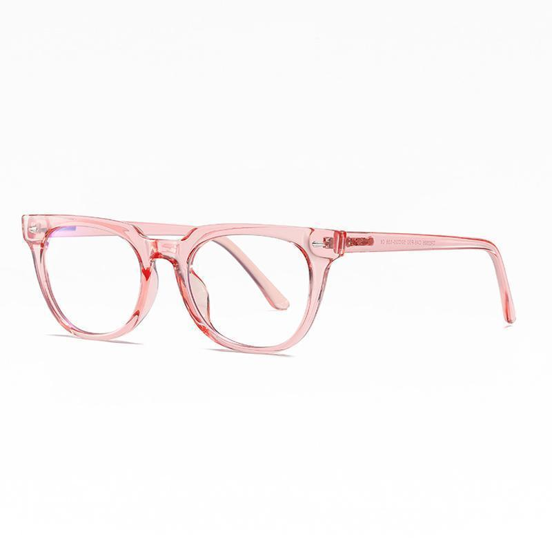 Adults Prescription Glasses Blue Light Blocking Computer Reading Gaming Glasses-Pink Crystal