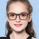 Elves - (Age 7-12)Children Prescription Glasses Blue Light Blocking Computer Reading Gaming Glasses-Matte Black
