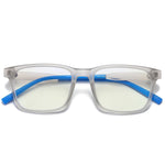 Elves - (Age 7-12)Children Blue Light Blocking Computer Reading Gaming Glasses-Matte Transparent Gray