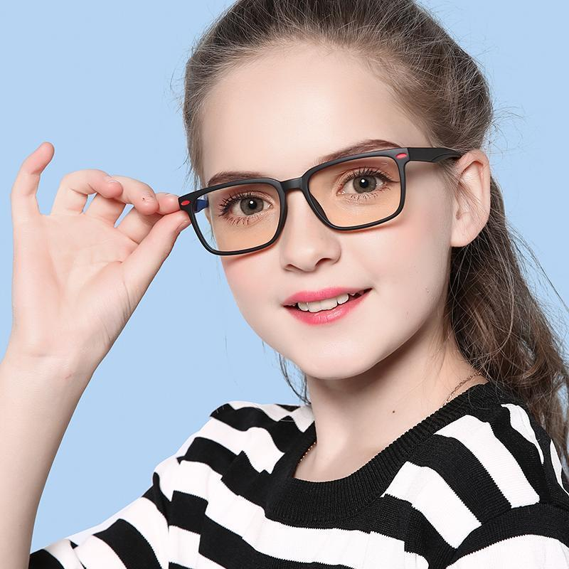 Angle - (Age 7-12)Children Blue Light Blocking Computer Reading Gaming Glasses-For Girl