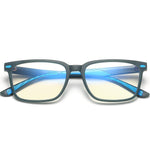 Angle - (Age 7-12)Children Blue Light Blocking Computer Reading Gaming Glasses-Demi Dark Green