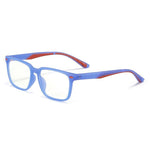 Angle - (Age 7-12)Children Blue Light Blocking Computer Reading Gaming Glasses-Matte Transparent Violet