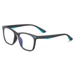 Genius - (Age 7-12)Children Prescription Glasses Blue Light Blocking Computer Reading Gaming Glasses-Matte Black