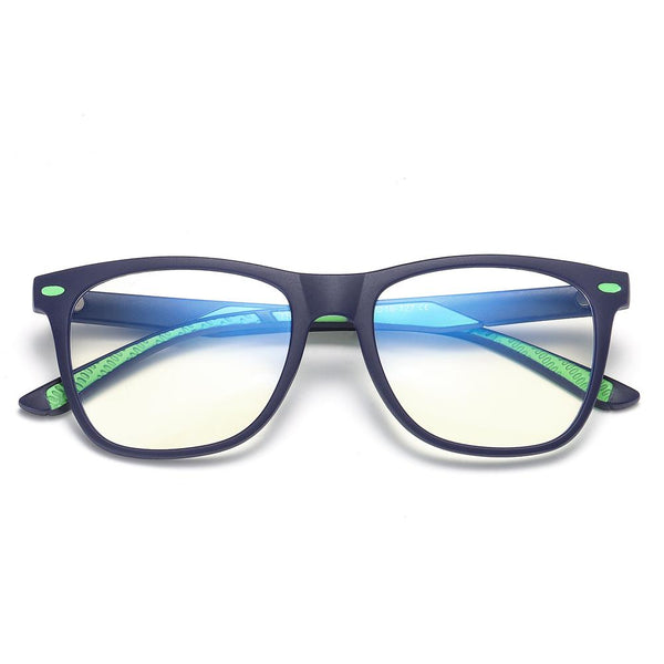 Cutie - (Age 7-12)Children Blue Light Blocking Computer Reading Gaming Glasses - Matte Dark Blue