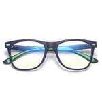 Cutie - (Age 7-12)Children Prescription Glasses Blue Light Blocking Computer Reading Gaming Glasses - Matte Dark Blue