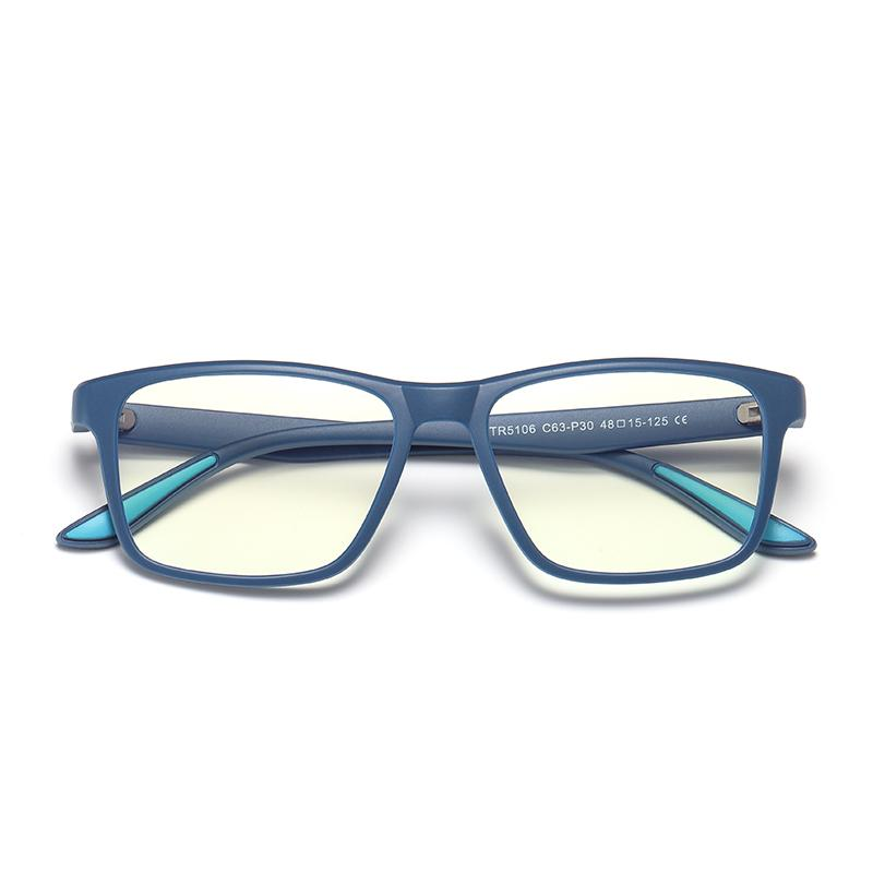 Cherub - (Age 7-12)Children Blue Light Blocking Computer Reading Gaming Glasses - Matte Transparent Blue