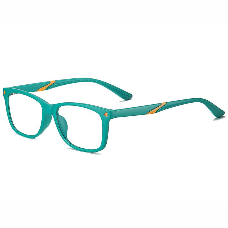 Wise - (Age 7-12)Children Blue Light Blocking Computer Reading Gaming Glasses - Sand Green