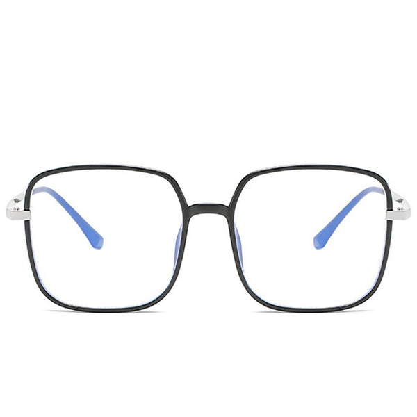 Star - Fashion Blue Light Blocking Computer Reading Gaming Glasses - Bright Black