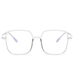 Star - Fashion Blue Light Blocking Computer Reading Gaming Glasses - Transparent Grey