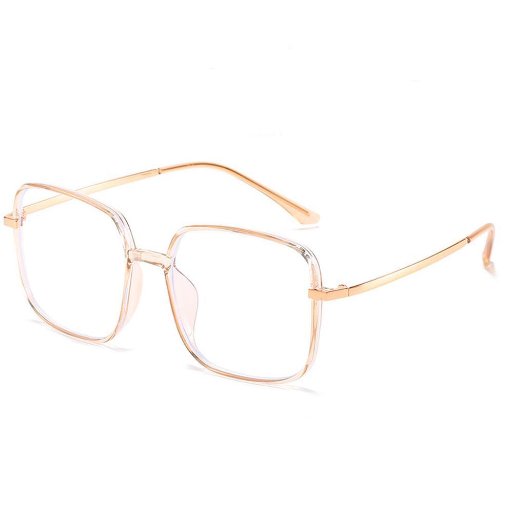 Star - Fashion Blue Light Blocking Computer Reading Gaming Glasses - Transparent Tea