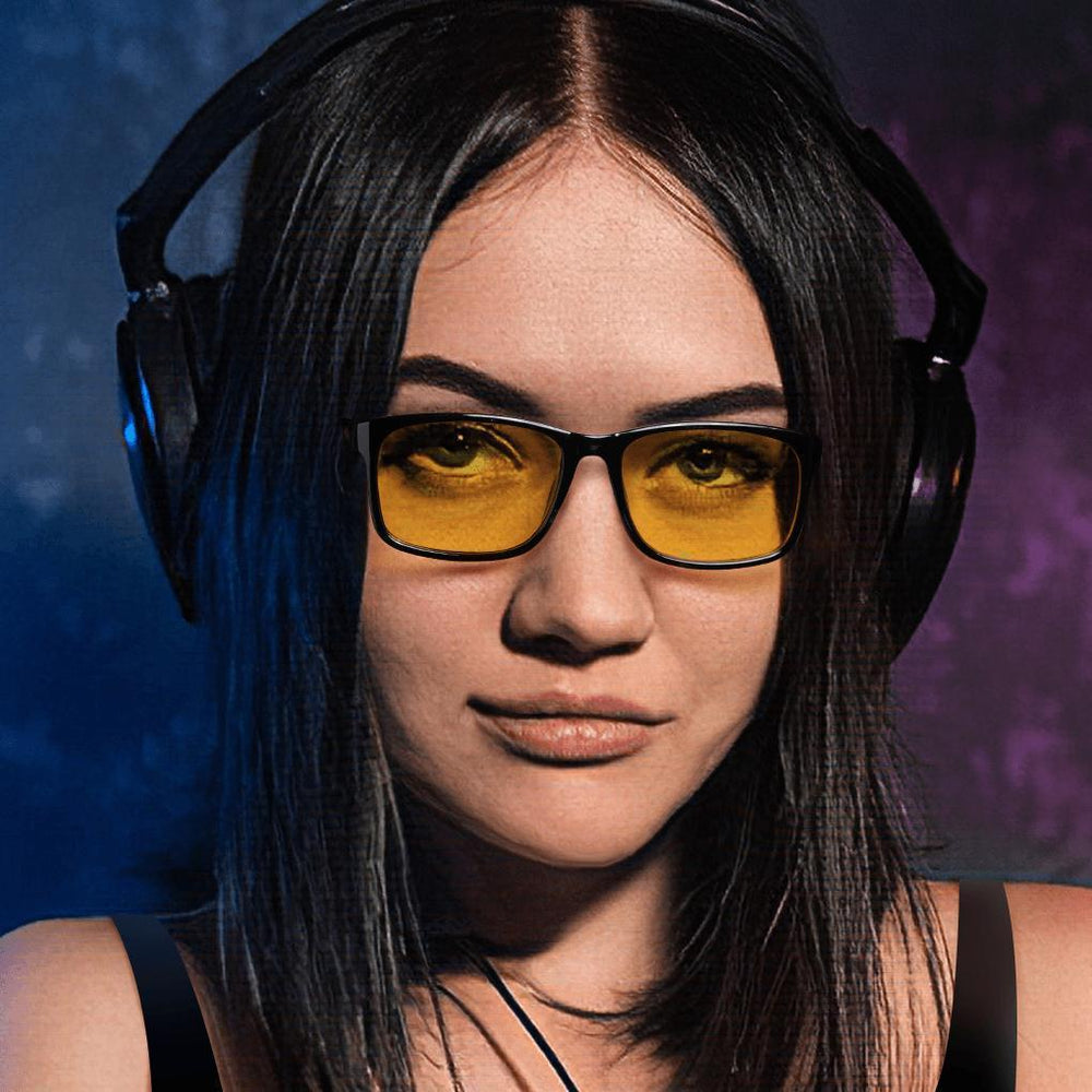 Blizzard - Adults Professional Gaming Glasses Blue Light Blocking Glasses - Black