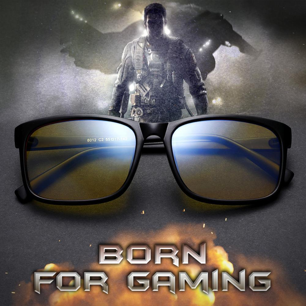 Blizzard - Adults Professional Gaming Glasses Blue Light Blocking Glasses - Matte Black