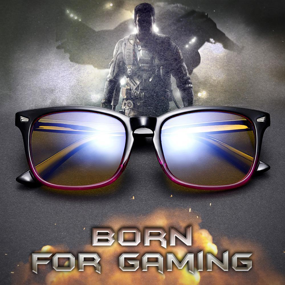 SIERRA - Adults Professional Gaming Glasses Blue Light Blocking Glasses - Purple