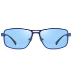 Noble - Trendy Stylish Polarized Sunglasses - Matte Deep Blue/Ocean Blue