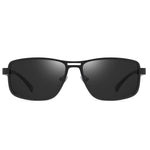 Noble - Trendy Stylish Polarized Sunglasses - Matte Black/Grey