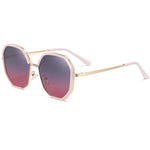Celebrity - Street Shot Trendy Stylish Polarized Sunglasses - Bright Gold/Grey Red