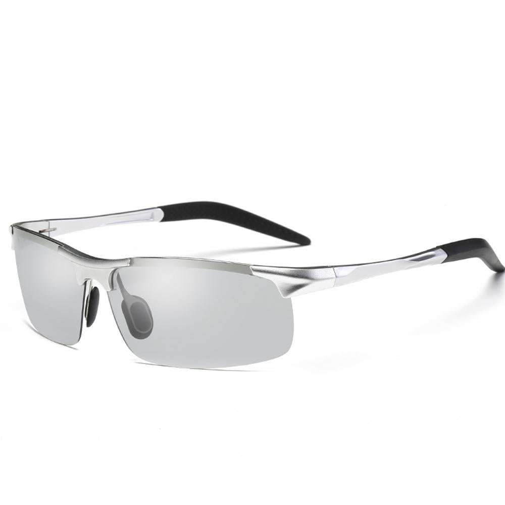 Sunny - Photochromic Polarized Sunglasses - Silver/Grey