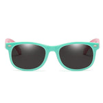 Rainbow - (Age 3-12)Kids UV400 Protective Polarized Sunglasses-Light green&Pink