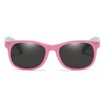 Rainbow - (Age 3-12)Kids UV400 Protective Polarized Sunglasses-Pink&Light green