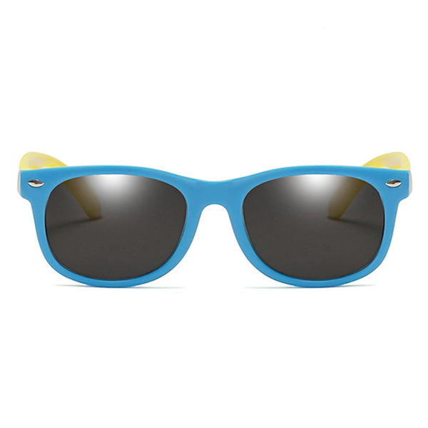 Rainbow - (Age 3-12)Kids UV400 Protective Polarized Sunglasses-Blue&Yellow
