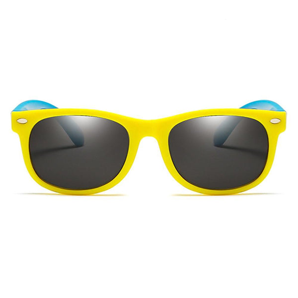 Rainbow - (Age 3-12)Kids UV400 Protective Polarized Sunglasses-Yellow&Blue