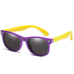 Rainbow - (Age 3-12)Kids UV400 Protective Polarized Sunglasses-Purple&Yellow