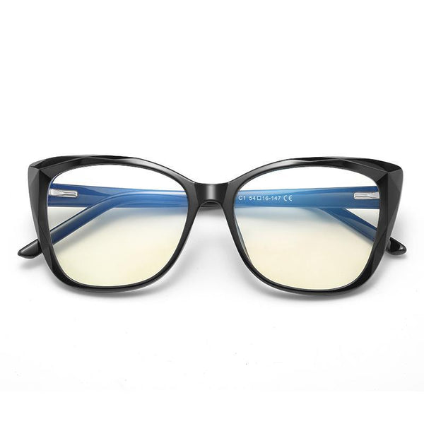 Sky - Fashion Blue Light Blocking Computer Reading Gaming Glasses - Bright Black