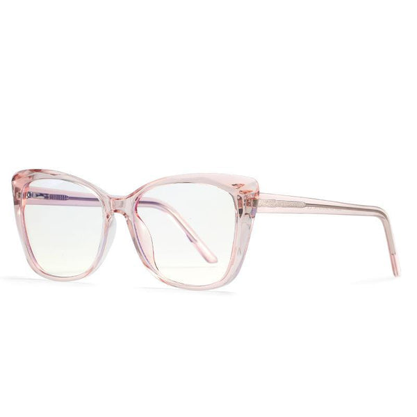 Sky - Fashion Blue Light Blocking Computer Reading Gaming Glasses - Transparent Pink