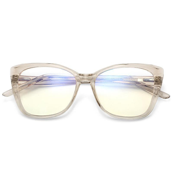 Sky - Fashion Blue Light Blocking Computer Reading Gaming Glasses - Transparent Brown