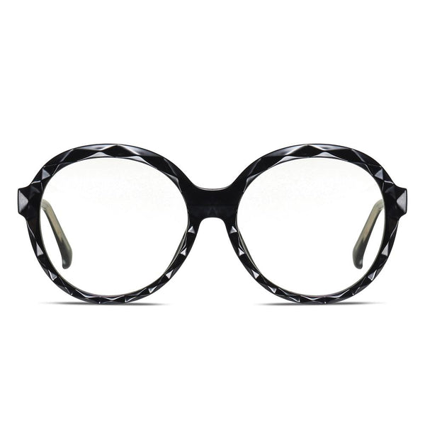 Mori - Fashion Blue Light Blocking Computer Reading Gaming Glasses - Bright Black