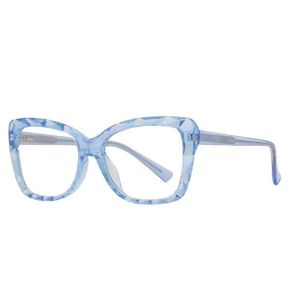 Hope - Fashion Blue Light Blocking Computer Reading Gaming Glasses - Transparent Light Blue
