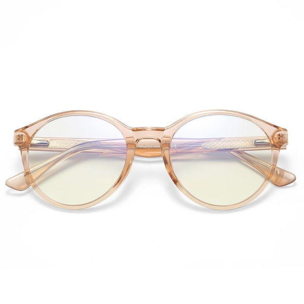 Foresee - Fashion Blue Light Blocking Computer Reading Gaming Glasses - Transparent Tea