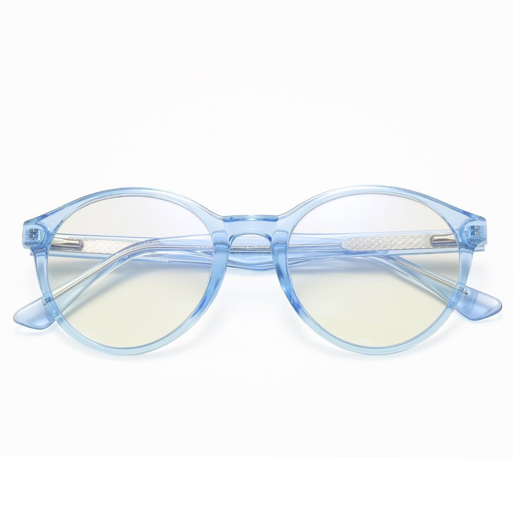 Foresee - Fashion Blue Light Blocking Computer Reading Gaming Glasses - Transparent Light Blue