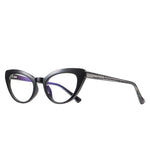 Kitten - Fashion Blue Light Blocking Computer Reading Gaming Glasses - Bright Black