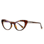 Kitten - Fashion Blue Light Blocking Computer Reading Gaming Glasses - Tea Bean Flower