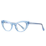 Kitten - Fashion Blue Light Blocking Computer Reading Gaming Glasses - Transparent Silver Blue