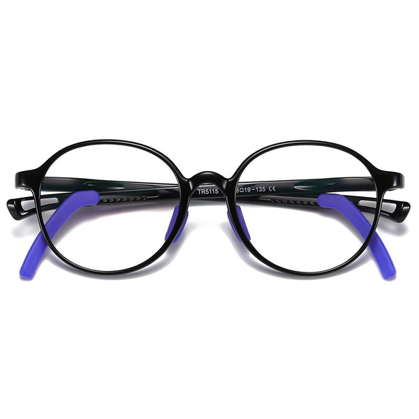 Smart - (Age 5-13)Children Non-slip Blue Light Blocking Glasses-Black