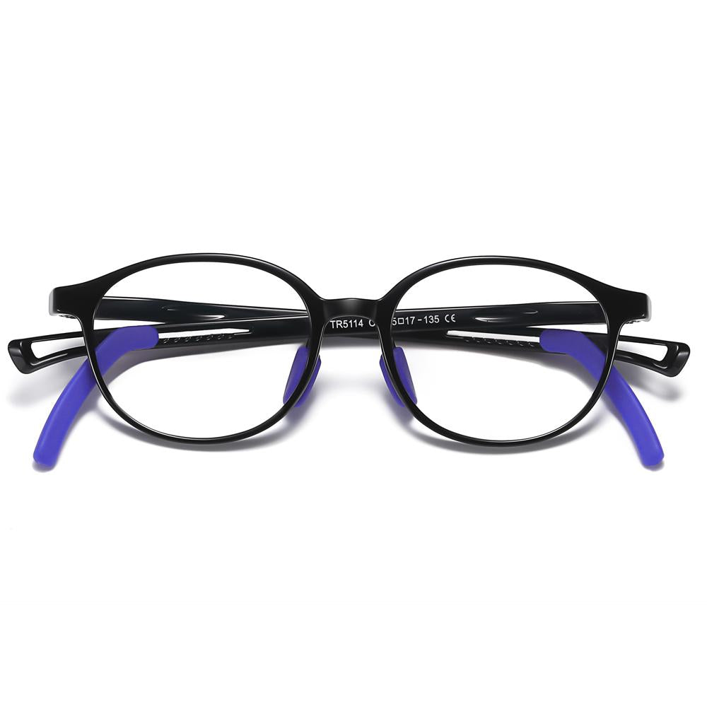 Lively - (Age 5-13)Children Non-slip Blue Light Blocking Glasses-Black