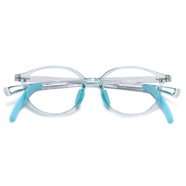 Lively - (Age 5-13)Children Non-slip Blue Light Blocking Glasses-Transparent Light Blue