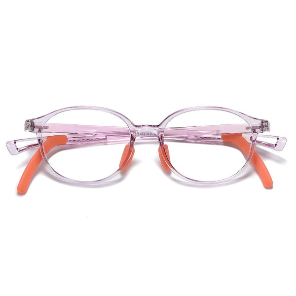 Lively - (Age 5-13)Children Non-slip Blue Light Blocking Glasses-Transparent Light Purple