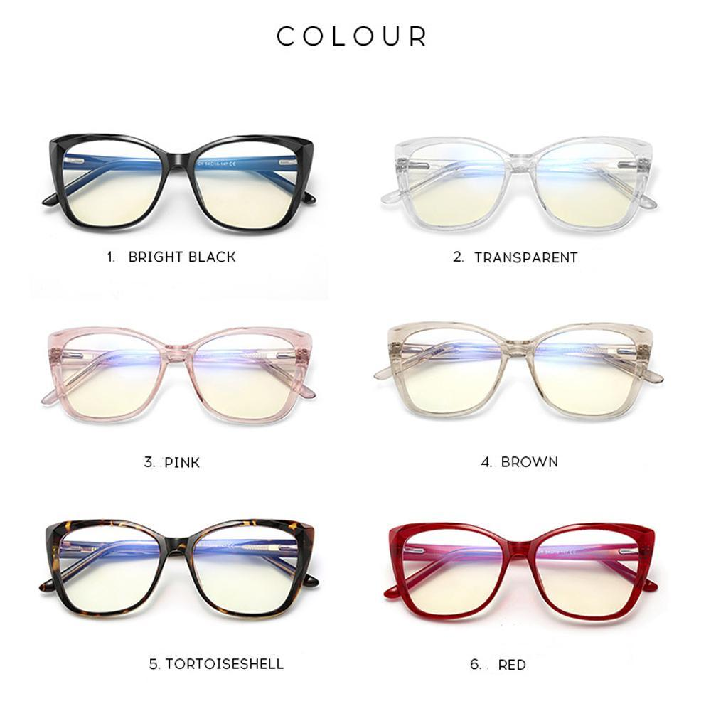 Sky - Fashion Blue Light Blocking Computer Reading Gaming Glasses - Transparent