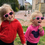 Rainbow - (Age 3-12)Kids UV400 Protective Polarized Sunglasses-Yellow&Pink