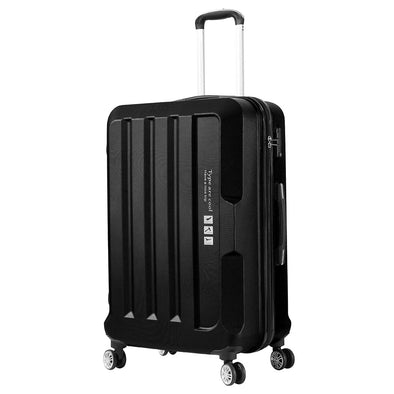 "24"" Check In Luggage Hard side Lightweight Travel Cabin Suitcase TSA Lock Black"